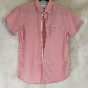 PAPER DENIM & CLOTH Slim Stretch Pink Shirt Size M